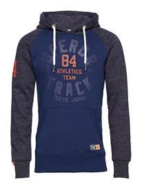 Superdry Track & Field Raglan Hood DENIM BLUE GRIT/ATLNTC NVY GRT