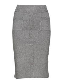 Minus Inez Knit Skirt GREY MELANGE