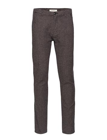 Selected Homme Slhslim-Arval Houndstooth Pants W Noos GREY