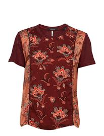Scotch & Soda Mixed Print Top With Jersey Back And Sleeves COMBO M