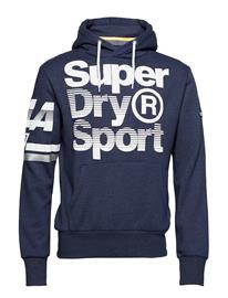 Superdry Sport La Sporting Hood DENIM MARL