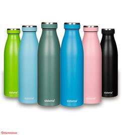 Sistema 500 ml teräksinen juomapullo