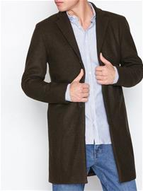 Selected Homme Slhbrove Wool Coat B Takit Tummanruskea