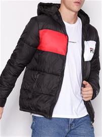 Fila Floyd Puff Hood Jacket Takit Black