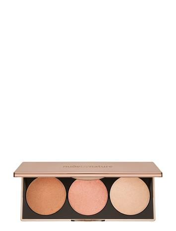 Nude by Nature Countouring & Highlighting Highlight Palette Bronze BRONZE/ROSE/CHAMPAGNE