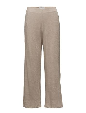 Mango Knit Trousers LT PASTEL BROWN