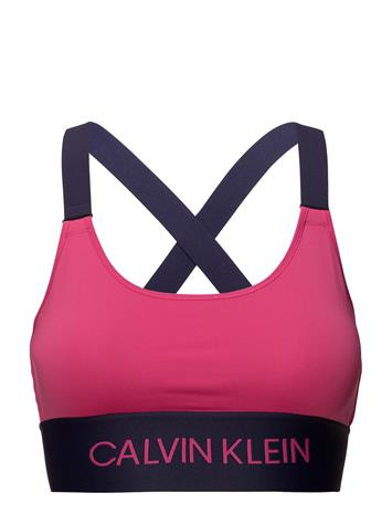 Calvin Klein Performance Cross Back Sports Bra PINK YARROW