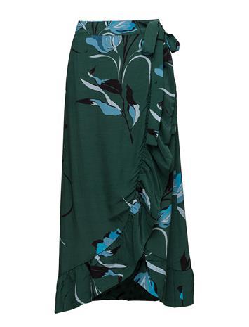 Gestuz Sille Long Skirt Ao18 FLOWER GREEN