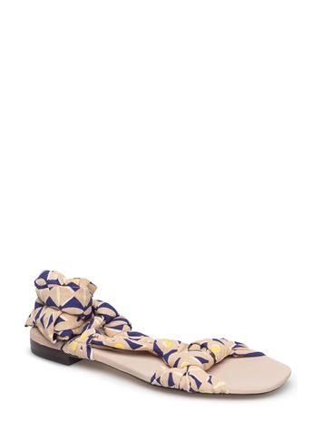 Mango Straps Printed Sandals LIGHT BEIGE