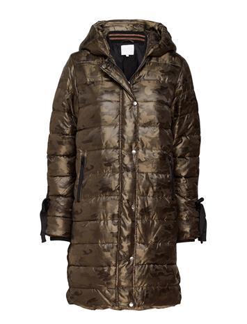 Coster Copenhagen Long Coat In Faux Down Look W. Camo CAMOUFLAGE