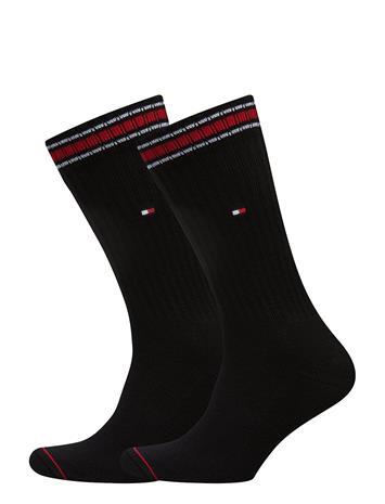 Tommy Hilfiger Th Men Iconic Sock Sports 2p BLACK
