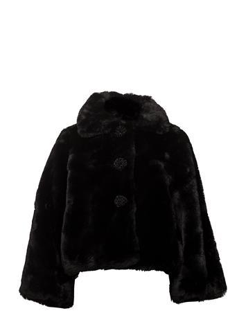 by Ti Mo Faux Fur Jacket 099 BLACK