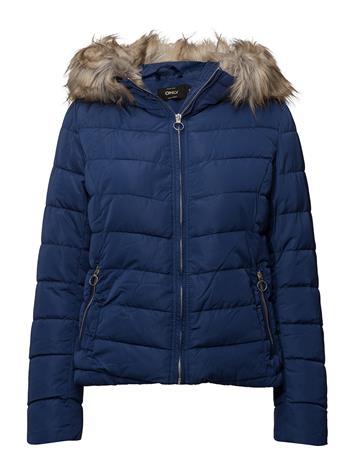 ONLY Onlnew Ellan Quilted Fur Hood Jacket Otw BLUEPRINT