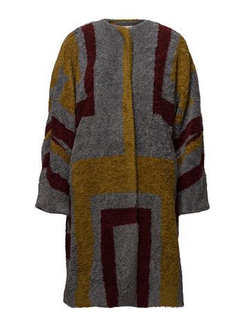 Rabens Saloner Tribal Knit Coat BORDEAUX