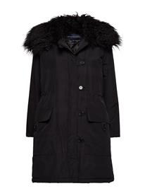 French Connection Marlow Utility Fur Cllr Parka BLACK