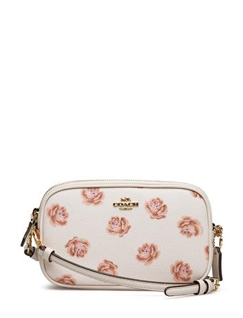 Coach Rose Print Crossbody Clutch LI/CHALK ROSE PRINT