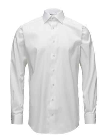 Eton White Twill Shirt - Floral Embroidery WHITE
