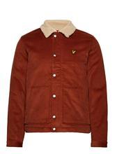 Lyle & Scott Jumbo Cord Shearling Jacket BROWN SPICE