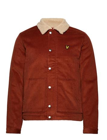 Lyle & Scott Jumbo Cord Shearling Jacket BROWN SPICE