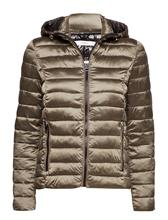 Mango Mixed Quilted Jacket MEDIUM BROWN