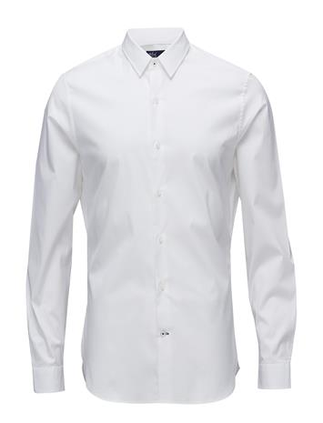 Mango Man Tailored Super Slim-Fit Cotton Shirt WHITE