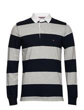 Tommy Hilfiger Iconic Block Stripe Rugby SKY CAPTAIN / CLOUD HTR
