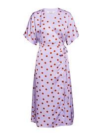 Gestuz Elsie Wrap Dress Ze2 18 PURPLE/CARAMEL DOT