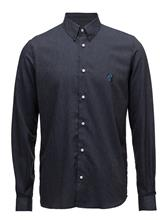 Tonsure Regular Fit Shirt With Teddy Logo. DARK INDIGO