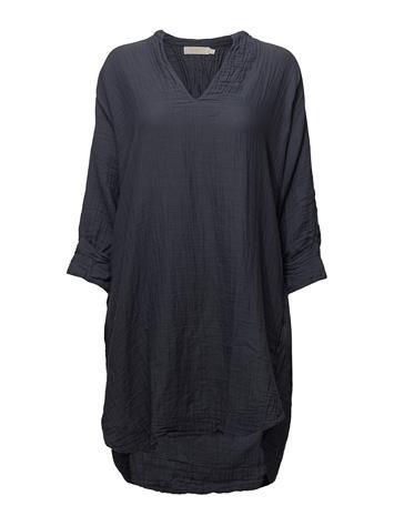 Rabens Saloner Folded Cuff Dress BLUE