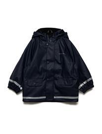 Polarn O. Pyret Rain Jacket Solid Preschool DARK SAPPHIRE