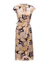 Mango Print Wrap Dress NAVY