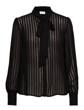 Vila Viaddie L/S Bow Shirt/1 BLACK