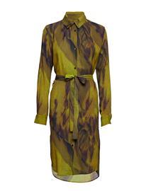 Diana Orving Fold Collar Dress YELLOW