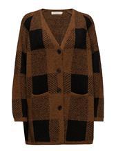 Rabens Saloner Blurred Check Cardigan GLAZED GINGER