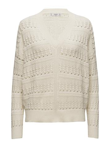 Mango Embroidered Cotton Sweater LIGHT BEIGE