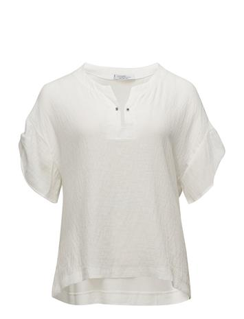 Violeta by Mango Piercing Combined Blouse NATURAL WHITE