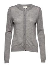 Minus Rose Knit Cardigan LIGHT GREY MELANGE