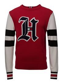Tommy Hilfiger Lewis Hamilton Varsity Sweater BARBADOS CHERRY