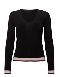 Mango Contrast-Edge Sweater BLACK