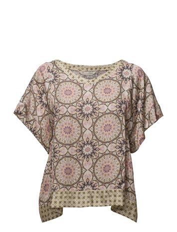 ODD MOLLY Honey-Coated S/S Blouse PINK PORCELAIN