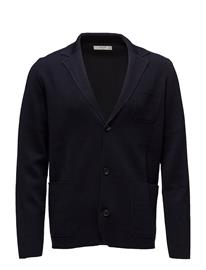 Mango Man Pocket Wool-Blend Cardigan NAVY