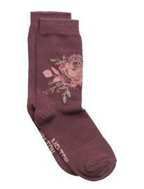 Melton Sock - Rose W/Lurex FIG