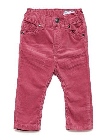 Polarn O. Pyret Woven Velvet Trousers Baby ROSE WINE