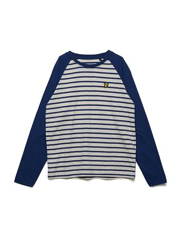 Lyle & Scott Junior Ls Baseball Breton T-Shirt TWILIGHT BLUE