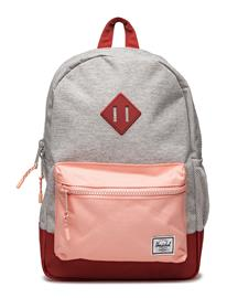 Herschel Heritage Youth LIGHT GREY CROSSHATCH/PEACH/BR