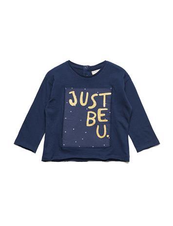 Mango Kids Message Patch T-Shirt NAVY