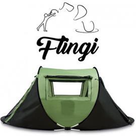 Flingi itsestään aukeava pop-up -teltta 1-2hlö - Vihreä