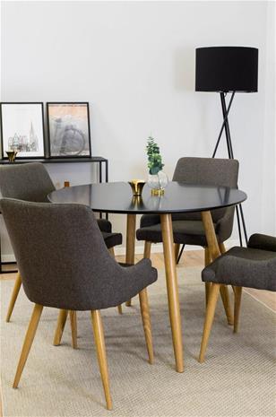 """Ellos """"Plaza-ruokaryhmä, jossa pöytä ja 4 tuolia"""""""