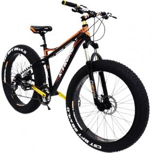 "26"" Fatbike X-TREME 4"" renkailla - Oranssimusta, Umpinainen"