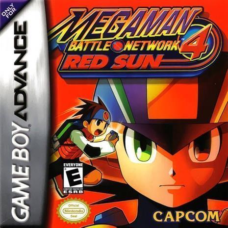 Mega Man Battle Network 4 - Red Sun, GBA -peli